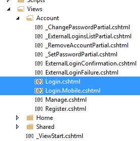 DisplayModes in MVC