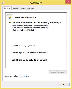 Digital Certificate HTTPS
