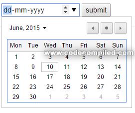 html 5 date input type