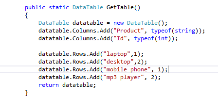 Querying datatable using LINQ