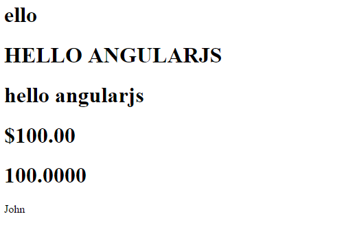 Filters in AngularJS