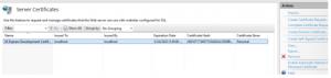 Install ssl certificate in IIS 1