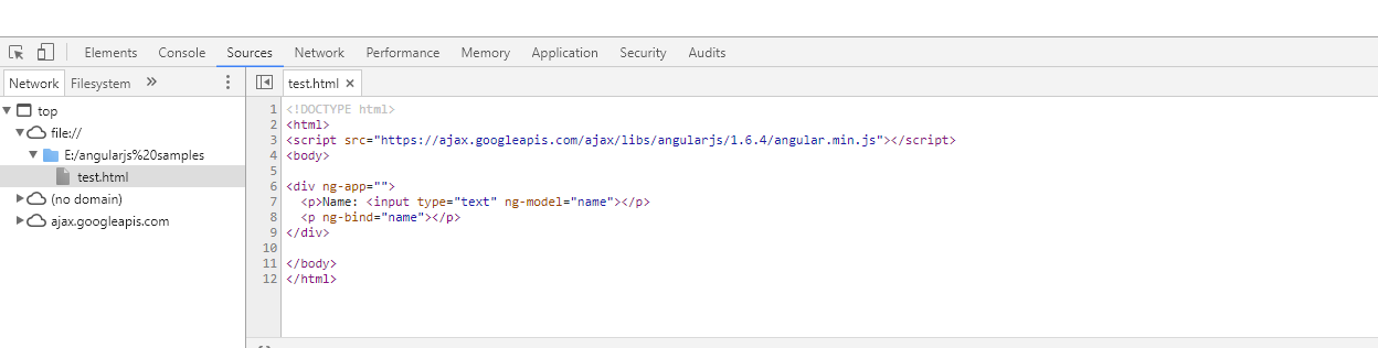 debugging angularjs application in chrome
