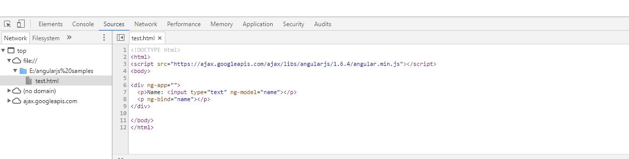 debugging angularjs application in chrome