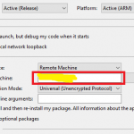 Set IP address of remote machine in windows IoT Core