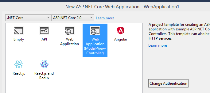 asp.net core application