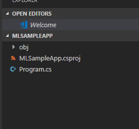 ML.NET create sample project in visual studio code 2