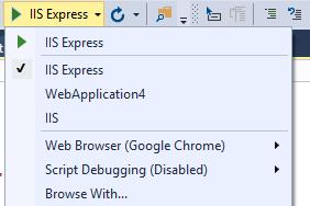 debug asp.net core project hosted in IIS create IIS profile debug